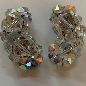 💛 Vintage Sequined Clip On Earrings
